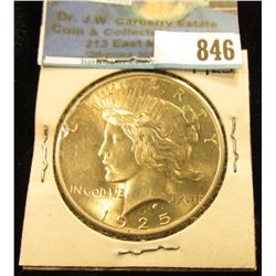 1925 P U.S. Peace Silver Dollar, Gold toned Brilliant Uncirculated.