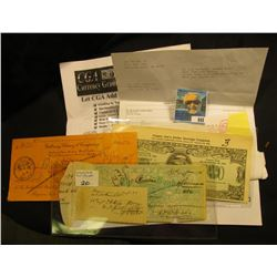 """""""Happy Joes Dollar Savings Coupons…1982"""" Two Dollar Advertising note; Lynn Knight Correspondence and"""