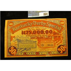 "May 7, 1938 ""Kentucky Derby Special In Celebrating the 64th Annual National Turf Classic Will Pay Mo"