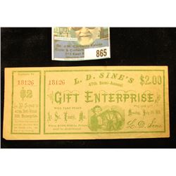 """""""L.D. Sine's 47th Semi-Annual Gift Enterprise will take place at St. Louis, Mo. on Monday, July 5th,"""