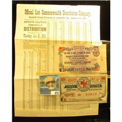 """Official List Commonwealth Distribution Company Seventh Grand Drawing at Louisville, Ky., January 3"
