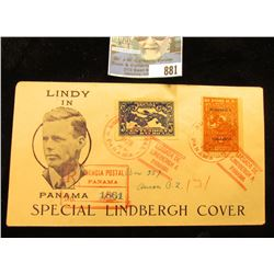 "Jan. 10, 1928 Postmarked Cover ""Lindy in Panama Special Lindbergh Cover"" Includes 2 & 5 Centesimos S"
