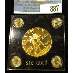 1984 P United States Olympics $10 Gold Commemorative in a black Capital holder with gold lettering.