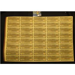 July 1st, 1937 Wisconsin Interurban System $500 First Mortgage Gold Bond with all coupons attached s