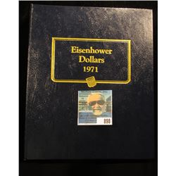 1971-78 Complete Set of Eisenhower Proof & Silver Dollars in a Whitman Classic Coin Album. (32 pcs.)