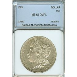 1879 MORGAN SILVER DOLLAR  NNC MS61  DMPL