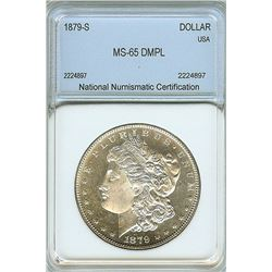 1879-S MORGAN SILVER DOLLAR  NNS MS65  DMPL