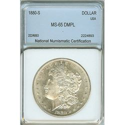 1880-S MORGAN SILVER DOLLAR  NNC MS65 DMPL