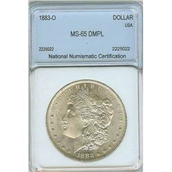 1883-O MORGAN SILVER DOLLAR  NNC MS65 DMPL