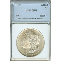 1884-O MORGAN SILVER DOLLAR NNC MS65 DMPL