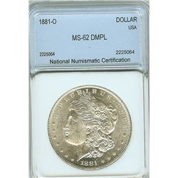 1887 MORGAN SILVER DOLLAR  NNC MS65