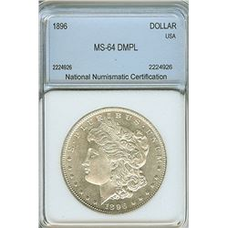 1896 MORGAN SILVER DOLLAR  NNC MS64 DMPL