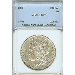 1898 MORGAN SILVER DOLLAR  NNC MS61 DMPL
