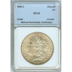 1898-O MORGAN SILVER DOLLAR NNC MS64