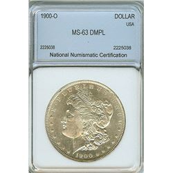 1900-O MORGAN SILVER DOLLAR  NNC MS63 DMPL