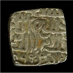 CENTRAL INDIAN REPUBLIC, MAHMUD SHAH 1436-1468 AD. SQUARE SILVER TANKA  AU+