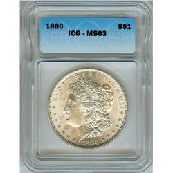 1880 MORGAN SILVER DOLLAR ICG MS-63