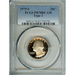 1979-S WASHINGTON 25 CENTS TYPE-2 PCGS PR70 DCAM