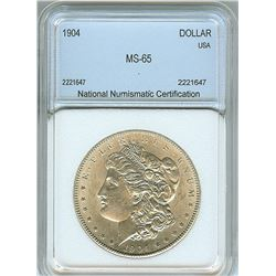 1904 MORGAN SILVER DOLLAR  NNC MS65