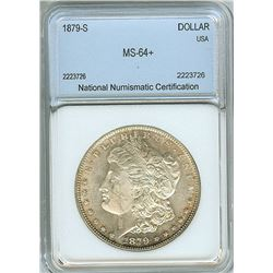 1879-S MORGAN SILVER DOLLAR  NNC MS64+