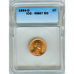 1954-D LINCOLN WHEAT CENT  ICG MS-67 RD
