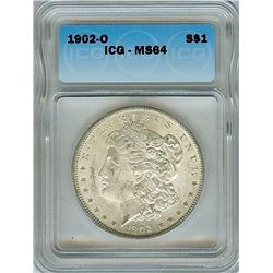 1902-O MORGAN SILVER DOLLAR  ICG MS64