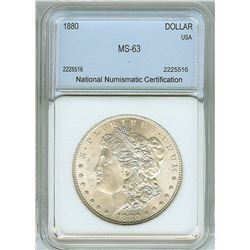 1880 MORGAN SILVER DOLLAR  NNC MS63