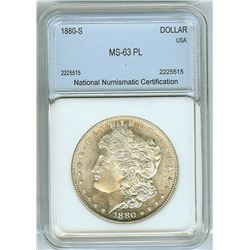 1880-S MORGAN SILVER DOLLAR  NNC MS63 PROOF LIKE