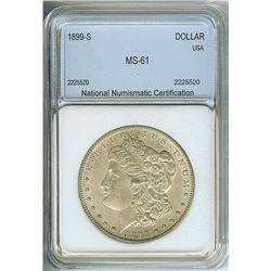 1899-S MORGAN SILVER DOLLAR  NNC MS61