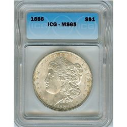 1886 MORGAN SILVER DOLLAR  ICG MS65
