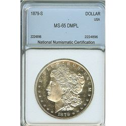 1879-S MORGAN SILVER DOLLAR  ICG MS65 DEEP MIRROR PROOF LIKE