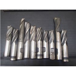 Misc Sized, 3/4  Shank HSS End Mills, 10 Total