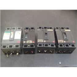 General Electric Circuit Breakers, (3)50A, (1)15A