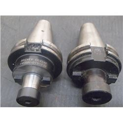 CAT40 Briney Shell End Mill Holders, 2 Total