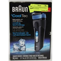 BRAUN COOLTEC SHAVER WITH ACTIVE COOLING