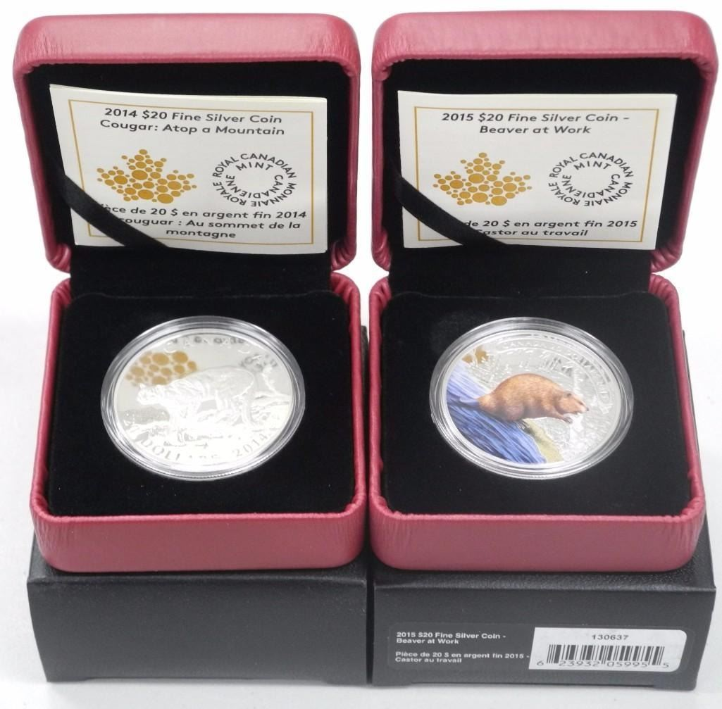 category royal canadian mint silver