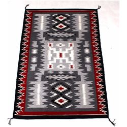 Navajo Wide Ruins Patterns Rug c1950 Jennie Thomas