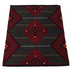Navajo Chief Wool Trade Blanket 20th C.