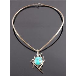 Andersen Kee Navajo Sterling Turquoise Necklace