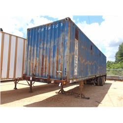 STEEL CHIP TRAILER, - T/A, 40' LENGTH, CLOSED TOP, HALF GATE, 11R22.5 TIRES ON SPOKE WHEELS