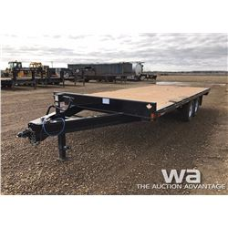 2016 DOUBLE A T/A FLATDECK TRAILER