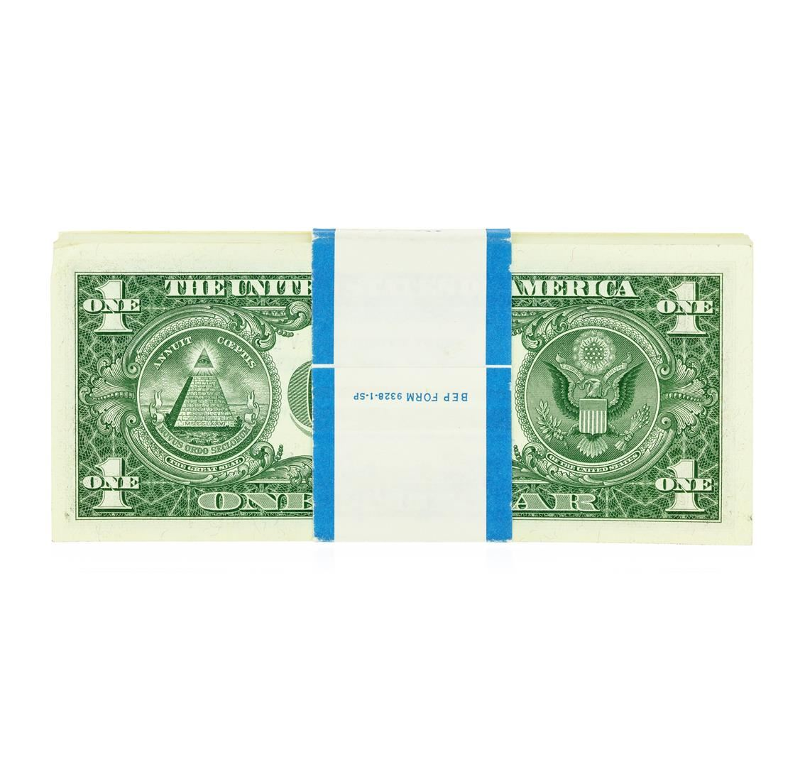 Original 1957b 1 Silver Certificate Pack Of 100 Come To The Auction