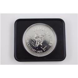 50% SILVER CANADIAN $1 COIN. CALGARY 1975 STAMPEDE. IN CASE