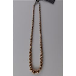 925 STERLING SILVER & ROSE GOLD ITALIAN NECKLACE. BRAND NEW