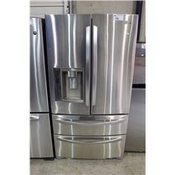 LG STAINLESS STEEL FRENCH DOOR FRIDGE WITH TWO FREEZERS AND ICE/WATER