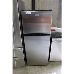 STAINLESS STEEL APARTMENT SIZED TWO DOOR FRIDGE