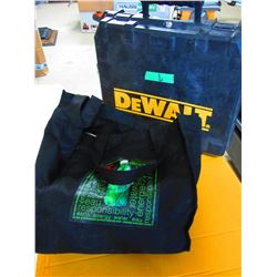 2 PAILS WITH ROPE & DEWALT TOOL CASE