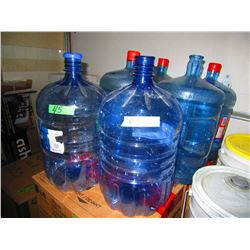 6 BLUE WATER JUGS