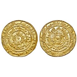 FATIMID: Al-Mustansir (1036-1094), AV Dinar (4.32g), Misr (Egypt), AH 452. A-719A. High eye-appeal,