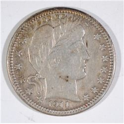 1911-S BARBER QUARTER  XF  SCARCE